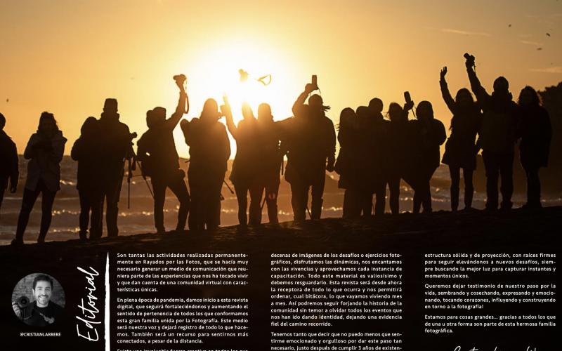 RAYADOS POR LAS FOTOS LANZA REVISTA DIGITAL PARA EXHIBIR NUESTRAS NUMEROSAS ACTIVIDADES Y EL TALENTO DE LOS INTEGRANTES DE LA COMUNIDAD